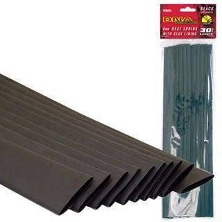 HEATSHRINK 6MM GLUE LINED BLACK (10 PACK)