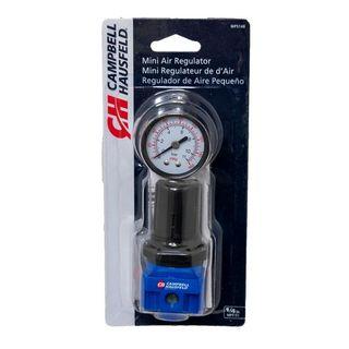 """CAMPBELL HAUSFELD AIR PRESSURE REGULATOR 1/4"""" MINI"""