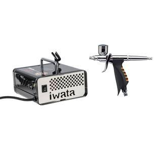 IWATA AIR BRUSH KIT CAKE HOME HP.TRN2 + IS35 COMPRESSOR