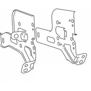 HILUX 2007 2011 ON SIDE MOUNT BRACKETS