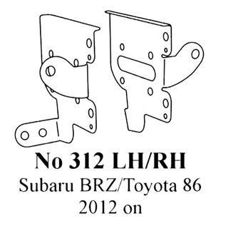 SUBARU BRZ /  TOYOTA 86 GT BRACKETS