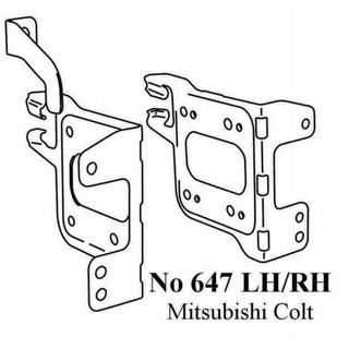 MITSUBISHI COLT 02 > SIDE BRACKETS