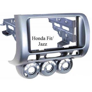 FITTING KIT HONDA JAZZ, FIT 02-09 DOUBLE DIN (GREY)