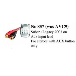AUX CABLE SUBARU LEGACY 2003 ON (RADIO MUST HAVE AUX BUTTON)