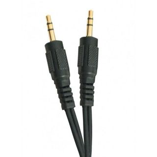AUXILLARY CABLE 3.5MM TO 3.5MM STEREO JACKS 1MTR