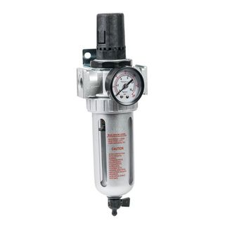 IWATA 2SPRAY AIR FILTER REGULATOR WITH GAUGE 1/4""