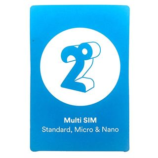 ACTIVATED 2 DEGREES PRE PAY FULL SIZE SIM CARD WITH $20 CREDIT