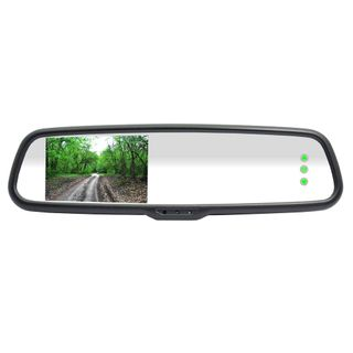 "RM43B 4.3"" PREMIUM OEM REARVIEW MIRROR RCA LCD MONITOR/RMB19 BASEPLATE"