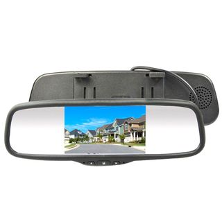 "AVS 5"" CLIP ON REAR VIEW MIRROR RCA LCD MONITOR UNIVERSAL"