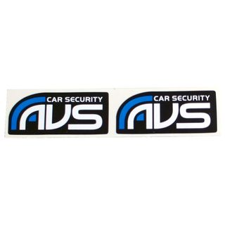 SET OF TWO AVS WINDOW STICKERS