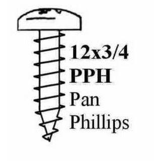 "12 X 3/4"" PAN POZI STP SCREW ZP"