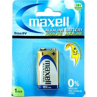 MAXELL ALKALINE BATTERY 9V 1 PACK BLISTER