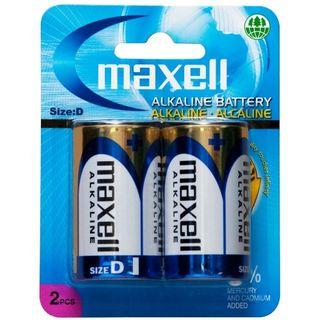 MAXELL ALKALINE BATTERY D SIZE 2 PACK BLISTER