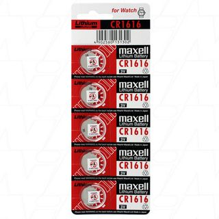 MAXELL LITHIUM BATTERY CR1616 3V COIN CELL 5 PACK