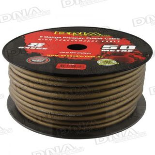 DNA CABLE 8 GAUGE POWER CABLE FROSTED BROWN 50 METRES