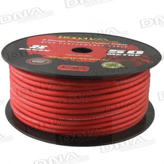 DNA CABLE 8 GUAGE POWER CABLE FROSTED RED 50 METRES