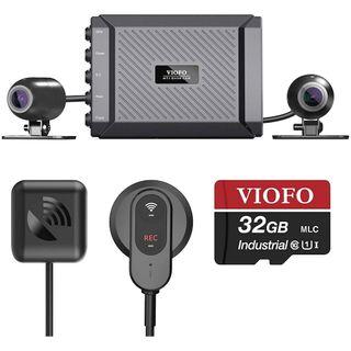 VIOFO MOTORCYCLE DASHCAM 1080P DUAL CHANNEL F/R WIFI + GPS