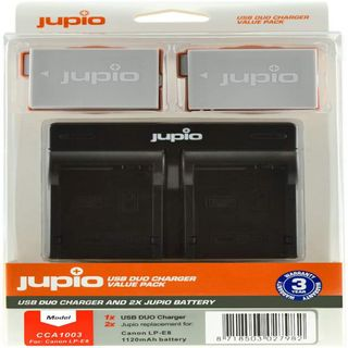 JUPIO KIT 2X LP-E8 1120MAH + USB DUAL CHARGER