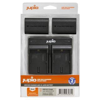 JUPIO KIT 2X LP-E6NH 2130MAH + USB DUAL CHARGER