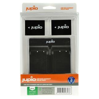 JUPIO KIT 2X NP-W126S 1260MAH + USB DUAL CHARGER