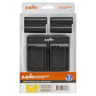 JUPIO KIT 2X EN-EL15C 2100MAH + USB DUAL CHARGER