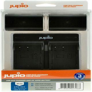 JUPIO KIT 2X DMW-BLF19E 1860MAH + USB DUAL CHARGER