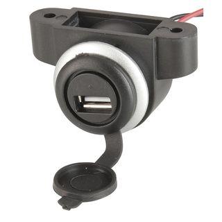 UNDERDASH OR PANEL MOUNT USB SOCKET 12-24V INPUT 5V 2.1A OUTPUT