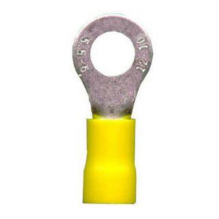 YELLOW RING CRIMP TERMINALS 6.4MM 100 PER PACK