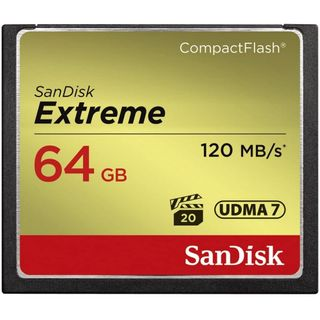 SANDISK EXTREME CF CFXSB 64GB UP TO 120MB/S MEMORY CARD