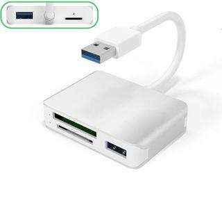 CARD READER ALUMINIUM 5-IN-1 XQD/2x USB3.0/SDXC/MICRO SD USB 3.0