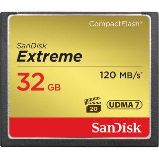 SANDISK EXTREME COMPACT FLASH 32GB UP TO 120MB/S CF CARD UDMA 7 VPG-20