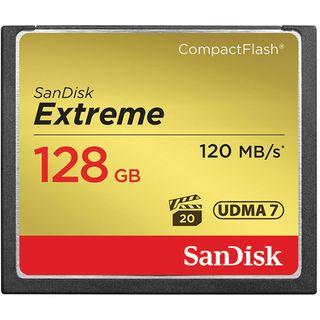 SANDISK EXTREME COMPACT FLASH 128GB UP TO 120MB/S CF CARD UDMA 7 VPG-20