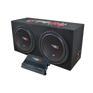 """CERWIN VEGA XED 12"""" SUBWOOFER AND ENCLOSURE WITH AMPLIFIER BASSKIT PACKAGE"""