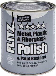 FLITZ POLISH PASTE, METAL, PLASTIC, FIBREGLASS 906GM CAN