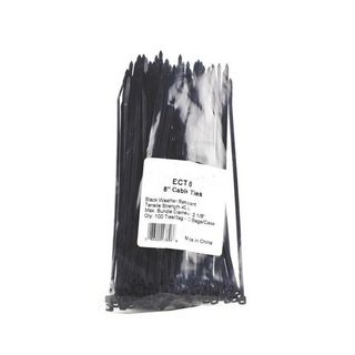 CABLE TIE 206MM LONG X 3.6MM BLACK WIDE (100 PK) DLG MMS