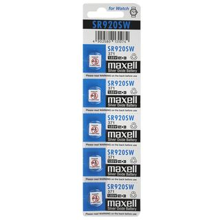 MAXELL SILVER OXIDE SR920SW WATCH BATTERY BUTTON CELL 5 PACK