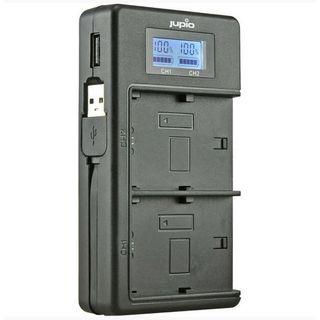 JUPIO USB DEDICATED DUO CHARGER WITH LCD FOR NIKON EN-EL15A  BATTERIES