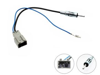 HONDA ANTENNA ADAPTER. *FOR AFTERMARKET RADIO WITH DIN ANTENNA CONNECTOR