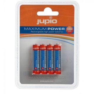 JUPIO RECHARGEABLE BATTERY AAA 1000MAH 4PK
