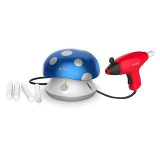 FORMULA AIR BRUSH KIT FOR KIDS WITH AIRBRUSH GUN AND STENCILS BLUE