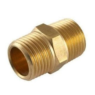 "FORMULA AIR CONNECTOR BRASS NIPPLE 1/4"" X 1/4"" BSP"