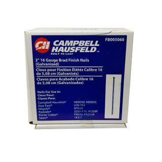 "*CAMPBELL HAUSFELD 2"" BRAD FINISHING NAILS 16G x 2500"