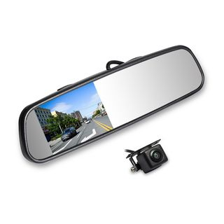 """4"""" AUTOVIEW MIRROR KIT CLIP ON WITH CAMERA"""