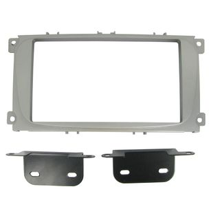 FITTING KIT FORD FOCUS, MONDEO 07 - 14 SILVER DOUBLE DIN
