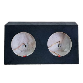 """SUBWOOFER BOX FOR 2 x 10"""" SUB DOUBLE BLACK"""