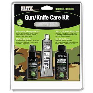 FLITZ KNIFE & GUN CARE KIT, POLISH, MATT CLEANER WAX & CLOTH