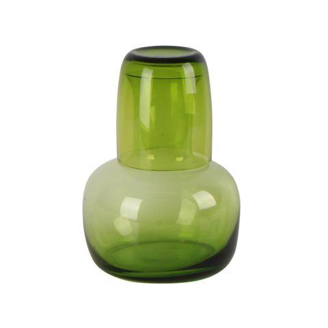 Mason Green Glass Night Set