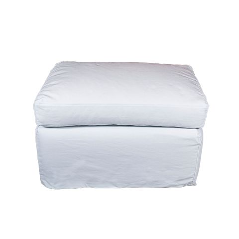 Dume Ottoman White Cotton Cover Only