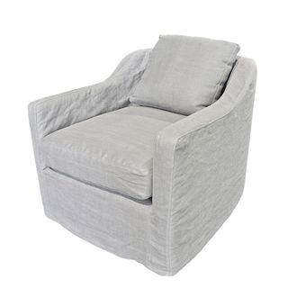 Dume Chair Soft Grey Cotton