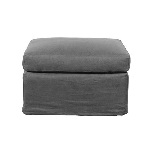Dume Ottoman Graphite Cotton